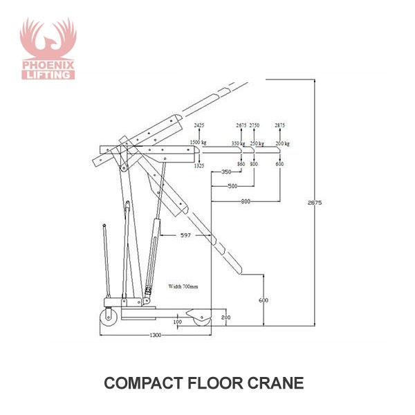 Compact Floor Cranes Dimensions