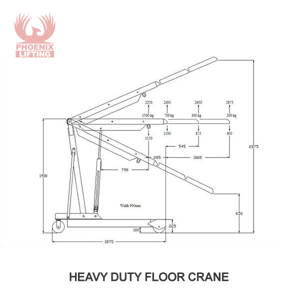 Heavy Duty Mobile Floor Crane Drawing