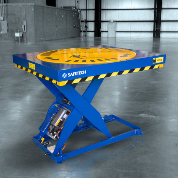 Picture of a Scissor Lift Table with turntable