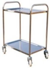 Stainless Steel 2 Tier Hand Platform Trolley