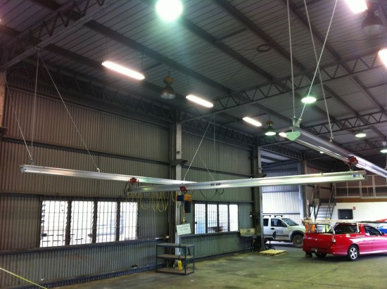 ceiling mounted gantry crane system